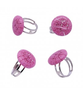 Bague-murano-murrine-ronde-rose-milodina