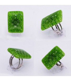 Bague-murano-murrine-rectangle-vert-milodina