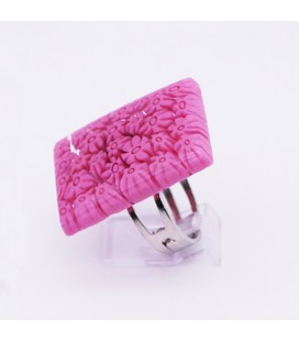 Bague-murano-murrine-rectangle-rose-milodina