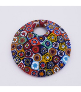 Murrine-collier rond bleu