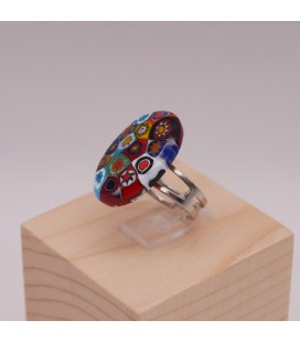 Bague-murano-murrine-ovale-multicolore-brillante-milodina